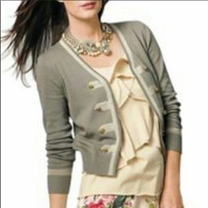 CAbi military style cardigan sweater  small